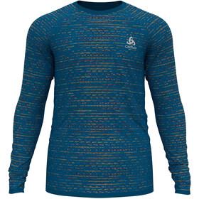 Odlo Blackcomb Ceramicool T-Shirt L / S Crew Neck Herrer, blå